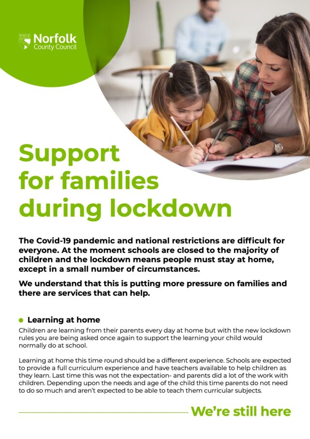 Parent Support Leaflet A4
